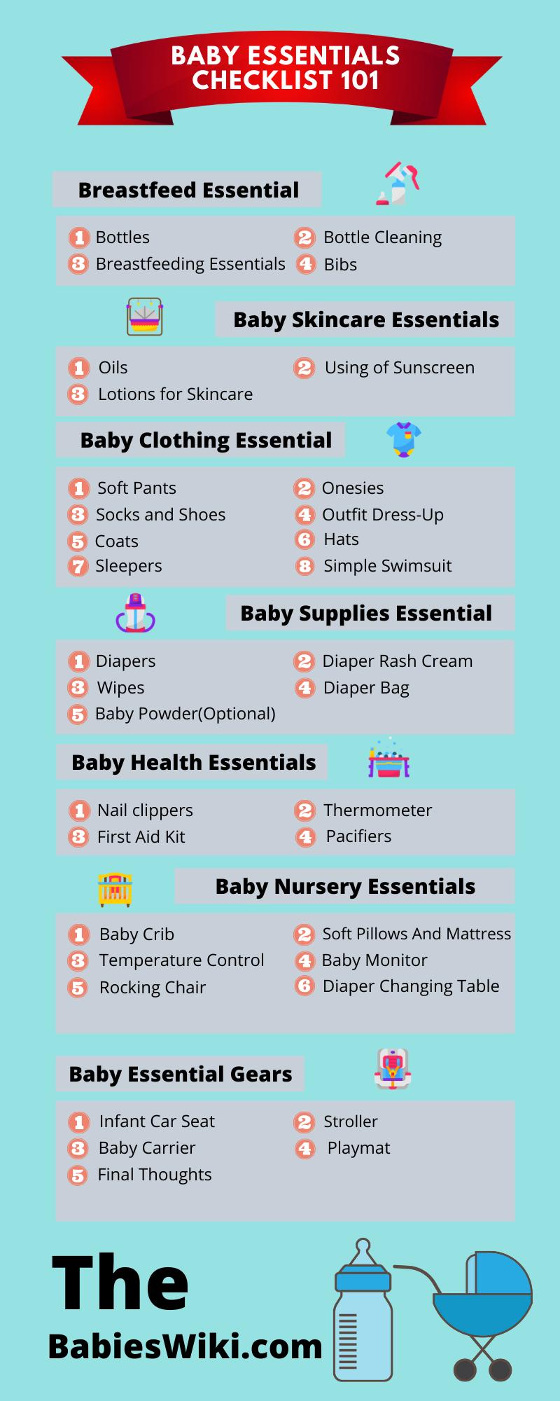 baby essential checklist